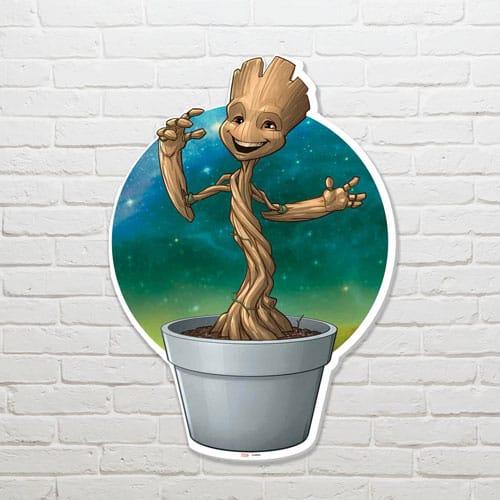 Guardians of the Galaxy Plant Pot Groot Wall Art 82 x 58cm