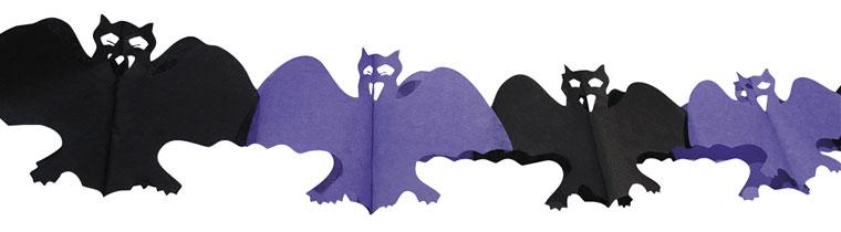 Halloween Bat Paper Garland Decoration 4m