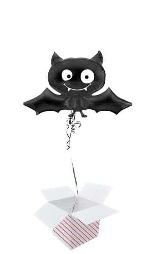 Halloween Bat Helium Foil Giant Balloon - Inflated Balloon in a Box Product Image