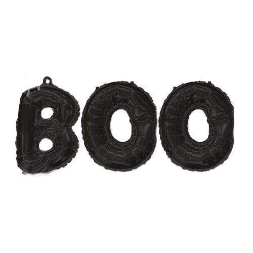 Halloween Black BOO Air Fill Balloon Kit Product Image