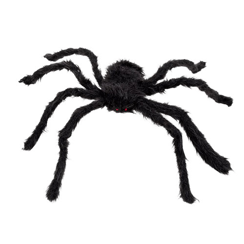 Halloween Black Hairy Spider Prop Decoration 65cm Product Image