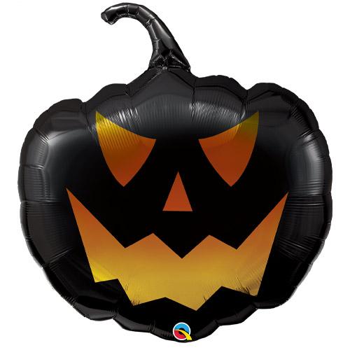 Halloween Black Jack Pumpkin Shaped Helium Foil Giant Qualatex Balloon 89cm / 35 in Product Image