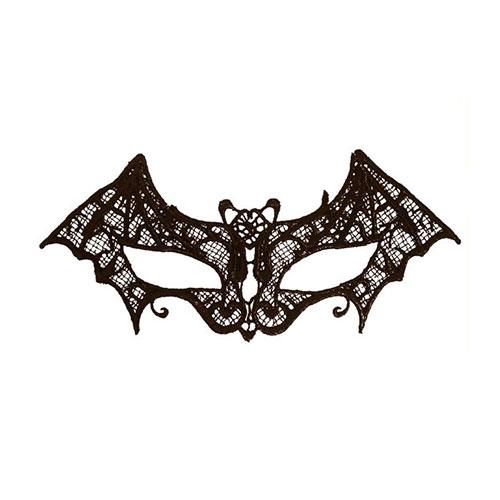 Black Lace Bat Eye Mask Adult Halloween Fancy Dress