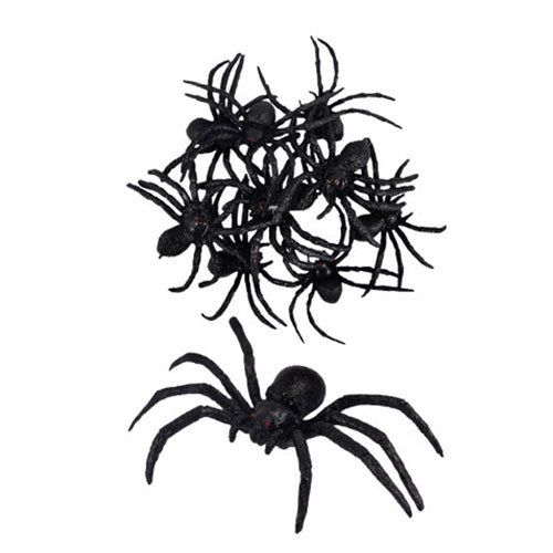 Halloween Black Spiders 8cm - Pack of 9 Product Image