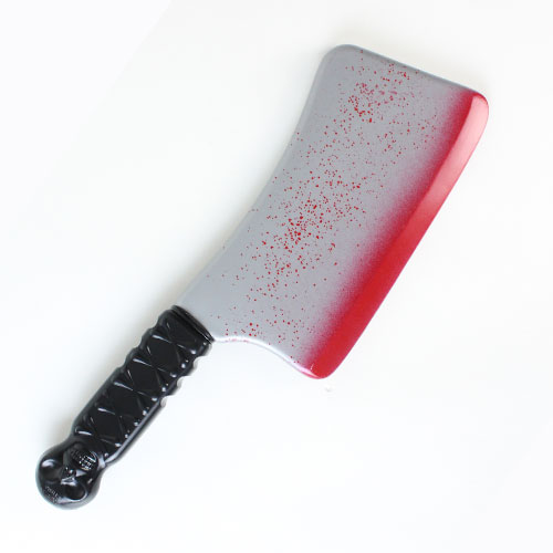 Halloween Blooded Plastic Cleaver Weapon 35cm