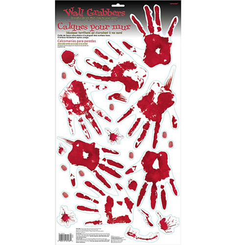 Halloween Bloody Hands Wall Grabber Decoration Product Image