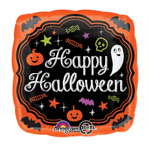Halloween Chalkboard Square Foil Helium Balloon 43cm / 17 in Product Image