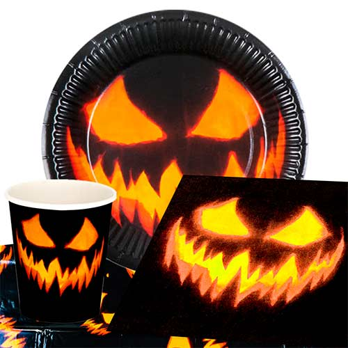 Halloween Creepy Pumpkin 6 Person Value Party Pack
