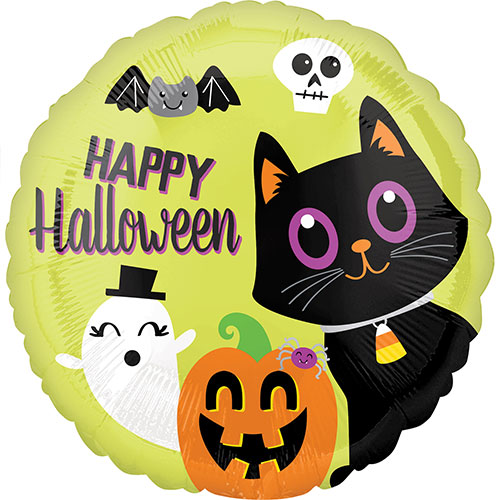Halloween Critters Round Foil Helium Balloon 43cm / 17 in
