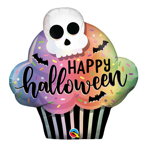 Halloween Cupcake Helium Foil Giant Qualatex Balloon 81cm / 32 in Product Image
