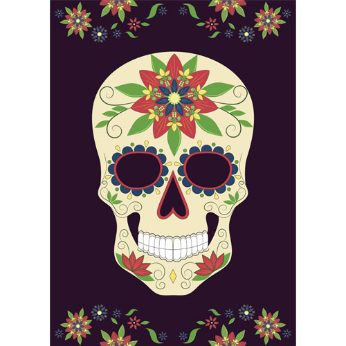 Halloween Day of the Dead Black A3 Poster PVC Party Sign Decoration 42cm x 30cm Product Gallery Image