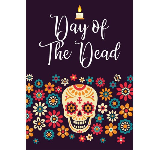 Halloween Day of the Dead Candle A3 Poster PVC Party Sign Decoration 42cm x 30cm Product Gallery Image