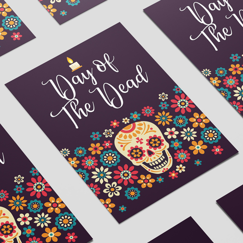 Halloween Day of the Dead Candle A3 Poster PVC Party Sign Decoration 42cm x 30cm Product Image