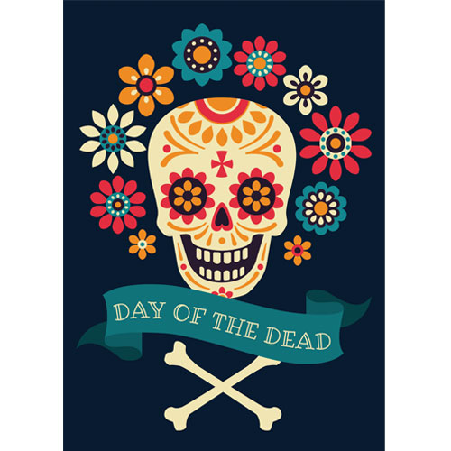 Halloween Day of the Dead Crossbones A3 Poster PVC Party Sign Decoration 42cm x 30cm Product Gallery Image