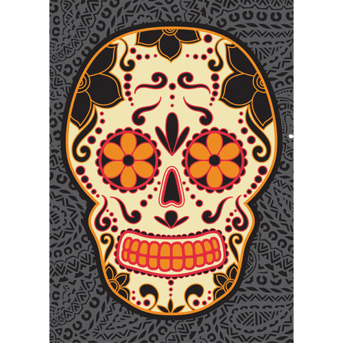 Halloween Day of the Dead Grey A3 Poster PVC Party Sign Decoration 42cm x 30cm Product Gallery Image