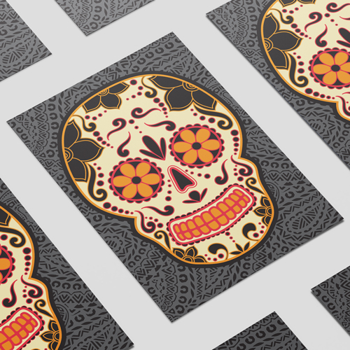 Halloween Day of the Dead Grey A3 Poster PVC Party Sign Decoration 42cm x 30cm Product Image