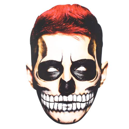 Halloween Day of the Dead Male Cardboard Face Mask Product Image