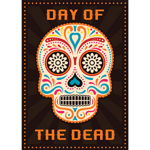 Halloween Day of the Dead Orange A3 Poster PVC Party Sign Decoration 42cm x 30cm Product Gallery Image