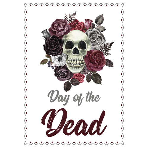 Halloween Day of the Dead Roses A3 Poster PVC Party Sign Decoration 42cm x 30cm Product Gallery Image