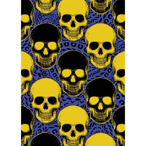 Halloween Day of the Dead Yellow Skulls A3 Poster PVC Party Sign Decoration 42cm x 30cm Product Gallery Image