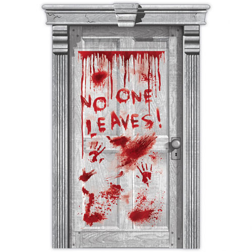 Halloween Dripping Blood Door Cover Decoration 165cm Product Image