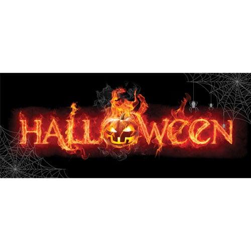 Halloween Flames PVC Party Sign Decoration 60cm x 25cm Product Image