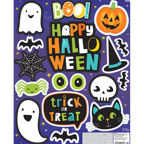 Halloween Friends Stickers Window Decorations