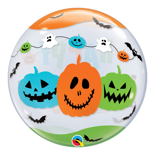 Halloween Fun Font Bubble Helium Qualatex Balloon 56cm / 22 in Product Gallery Image