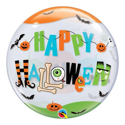 Halloween Fun Font Bubble Helium Qualatex Balloon 56cm / 22 in Product Image