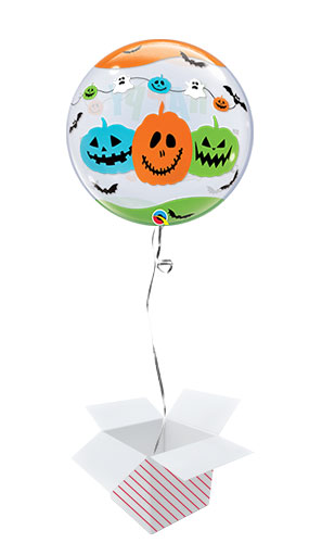 Halloween Fun Font Bubble Helium Qualatex Balloon - Inflated Balloon in a Box Product Gallery Image