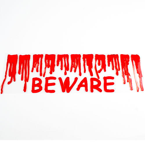 Bloody Beware Halloween Gel Stickers Decoration Product Image