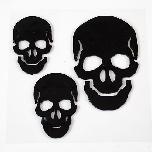 Skulls Halloween Gel Stickers Window Decorations Product Image
