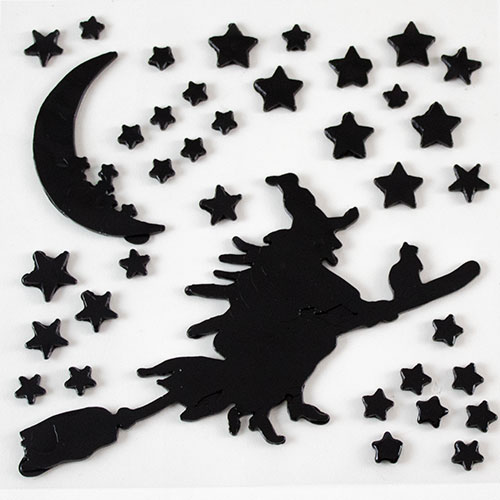 Witch Halloween Gel Stickers Window Decorations Product Image