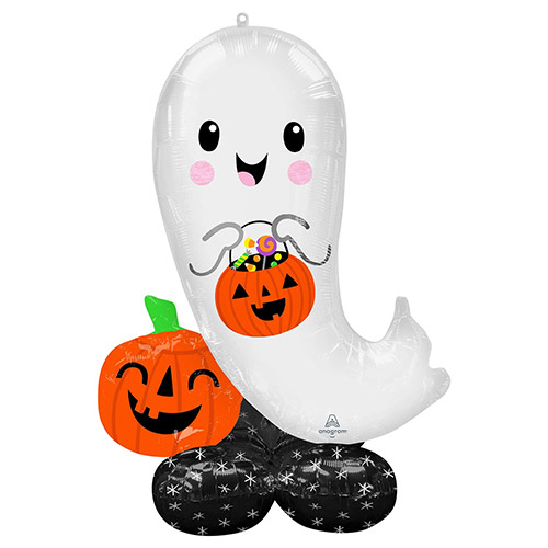Halloween Ghost Airloonz Air Fill Giant Foil Balloon 134cm / 53 in