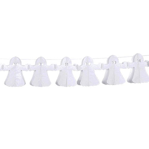 Halloween Ghost Paper Garland Decoration 4m
