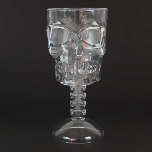 Halloween Clear Ghoulish Reusable Plastic Glass