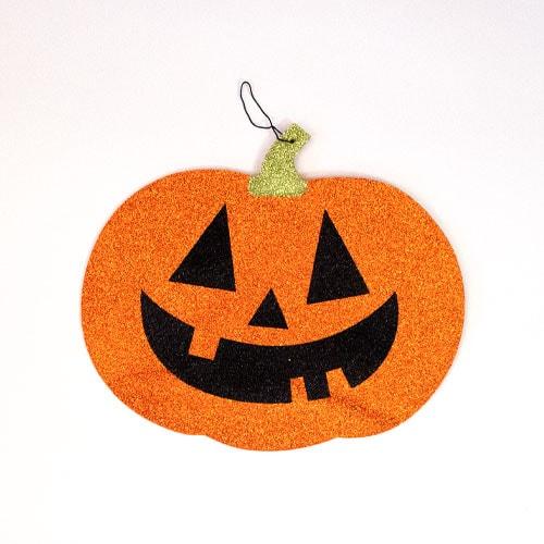 Halloween Glitter Pumpkin Hanging Decoration 28cm