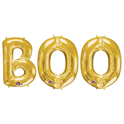 Halloween Gold BOO Small Air Fill Balloon Kit Product Image