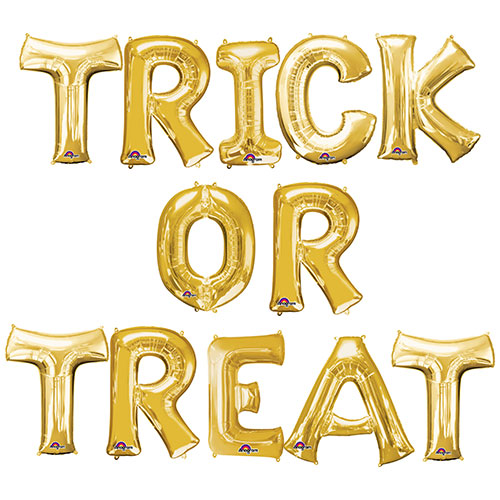 Halloween Gold TRICK OR TREAT Small Air Fill Balloon Kit Product Image