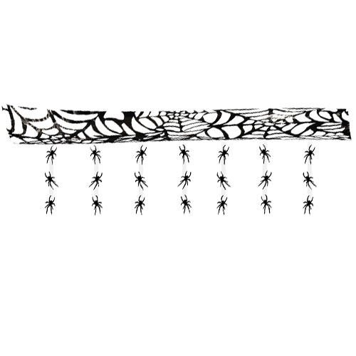 Halloween Hanging Ceiling Decoration With Spiders 3m Product Image