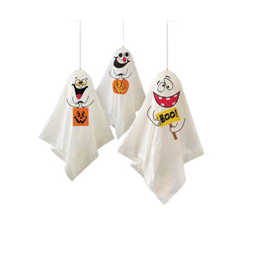 Halloween Hanging Ghosts Decorations - Pack of 3