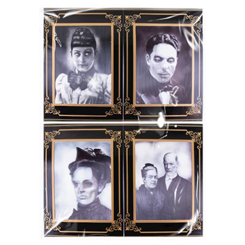 Halloween Lenticular Holographic Horror Photo Frames 26cm - Pack of 4 Product Image