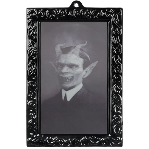 Halloween Lenticular Holographic Horror Portrait Wall Hanging Decoration 28cm Product Image