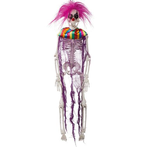 Crazy Clown Skeleton Halloween Prop Hanging Decoration 40cm