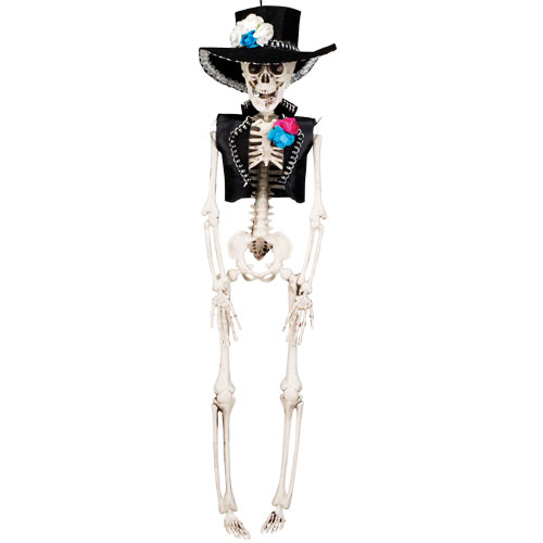 Day Of The Dead El Flaco Skeleton Halloween Prop Hanging Decoration 40cm Product Image