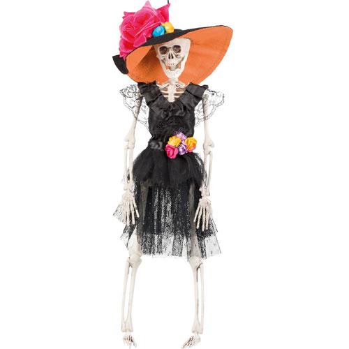 Day Of The Dead La Flaca Skeleton Halloween Prop Hanging Decoration 40cm Product Image