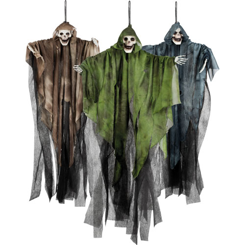 Assorted Halloween Prop Skull Ghost Hanging Decoration 65cm Product Image
