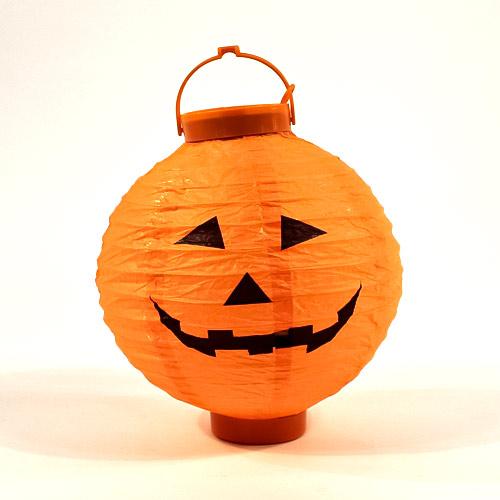 Halloween Pumpkin Light Up Indoor Lantern 22cm