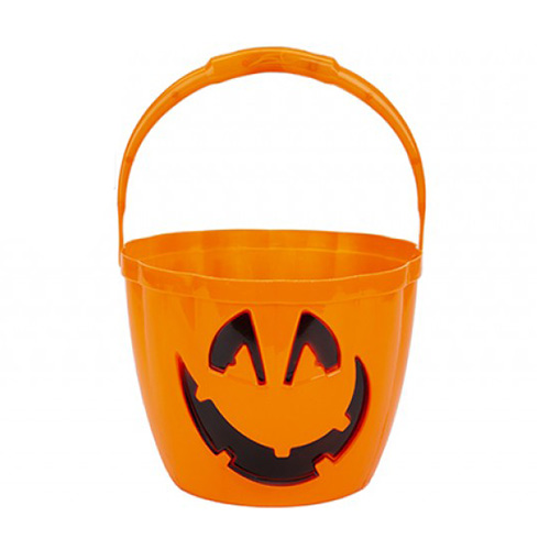 Halloween Pumpkin Trick or Treat Bucket with Flashing Light Up Handle 22cm Product Image