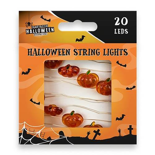 Halloween Pumpkins String Light Decoration 190cm Product Image